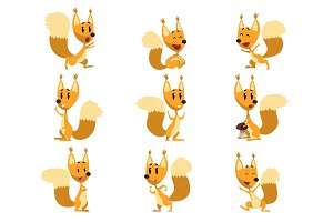 Funny squirrel cartoon character