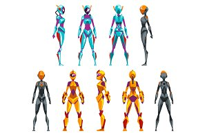 Robot costumes set, superhero woman