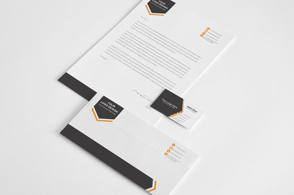 aero stationery design template stationery templates creative market