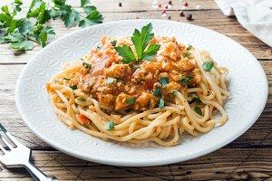 Spaghetti pasta Bolognese