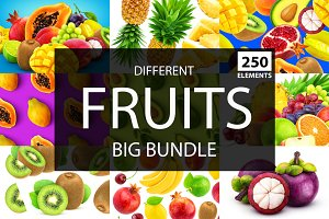 Different fruits and berries