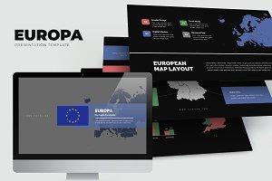Europa : Europe Area Map Keynote