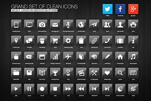 Grand Set of Icons Buttons