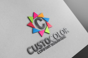 Custo Color /C Letter - Logo
