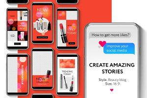 Editable Instagram Stories template