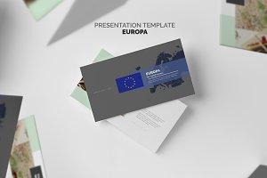 Europa : Europe Map Google Slides