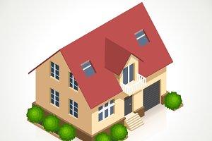 House 3d vector icon
