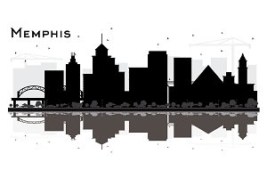 Memphis Tennessee Skyline Silhouette