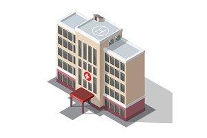 Hospital and ambulance building.
