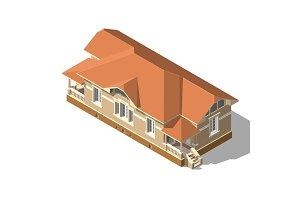 Cottage Isometric Vector