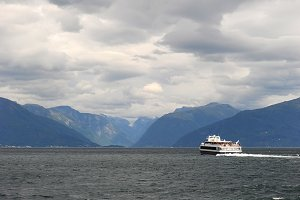 Cruise liner, Norwegian fjords