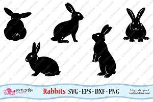 Rabbits SVG