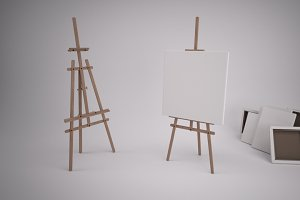 Artists Easel & Canvas