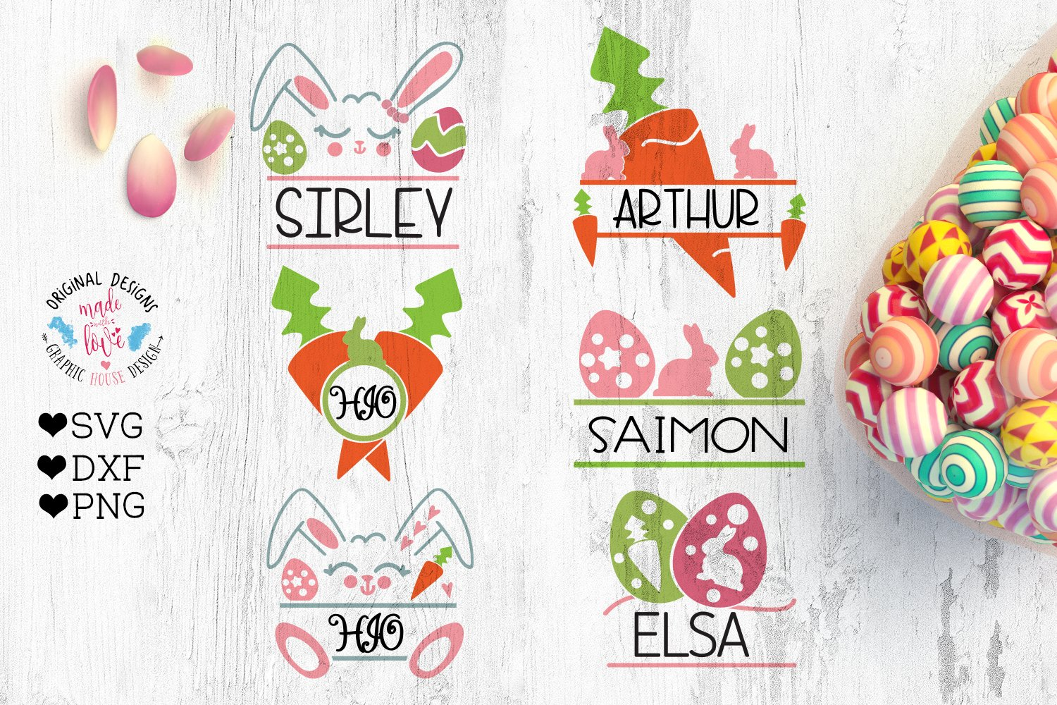 39+ Easter Split Font With Bunny And Easter Egg Image