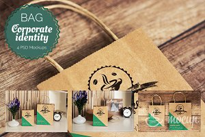 4 PSD Shopping Bags Mockups