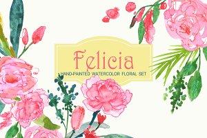 Felicia - Watercolor Clip Art