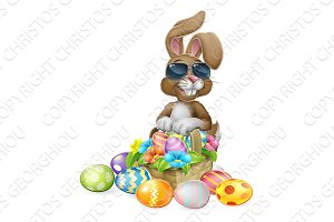 Cool Easter Bunny Rabbit Eggs Hunt