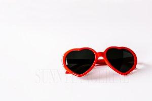 Heart Glasses - Stock Photo