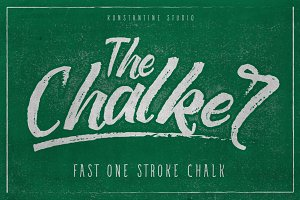 The Chalker Chalk lettering font