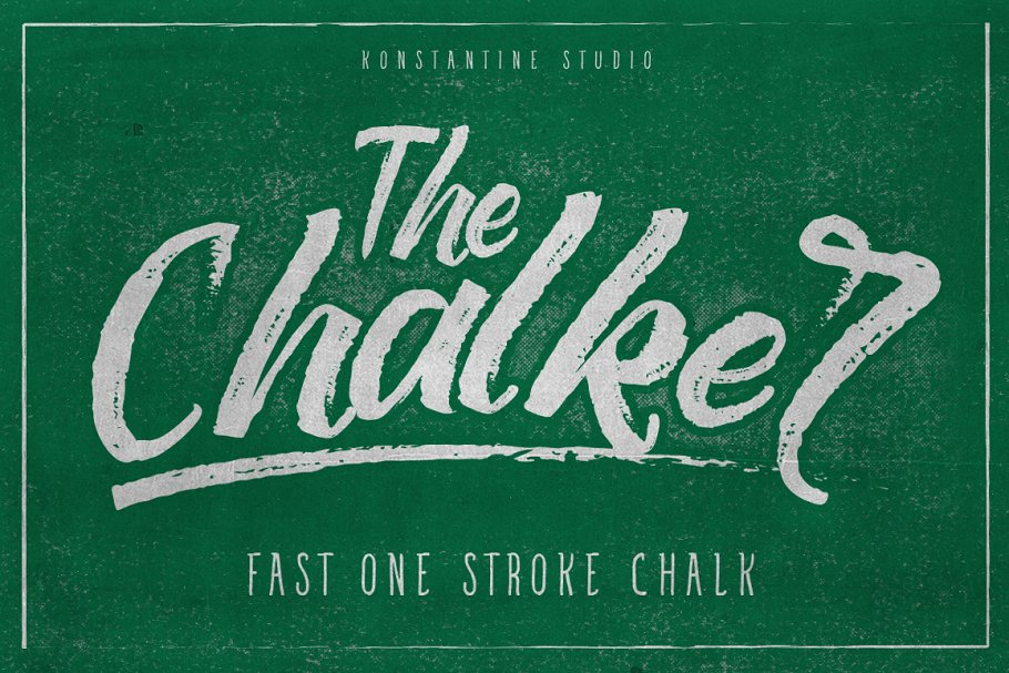 The Chalker Chalk lettering font ~ Display Fonts ~ Creative