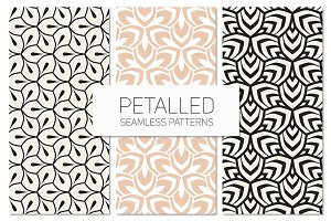 Petalled Seamless Patterns Set 1