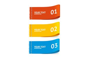 Fabric clothing labels option banner