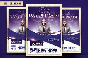 Lovely Day of Praise Church Flyer