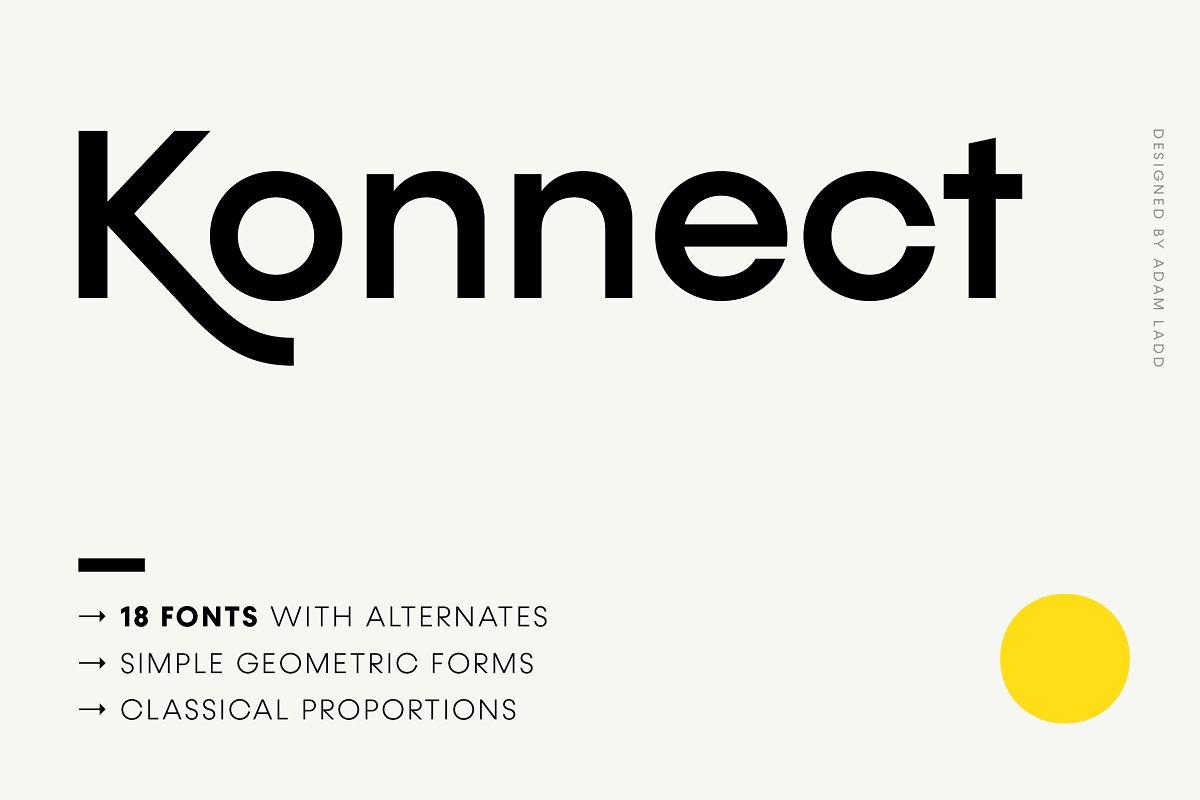 Konnect Font Family ~ Sans Serif Fonts ~ Creative Market