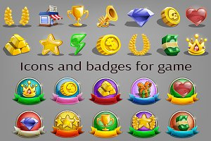 Icons and badges for game