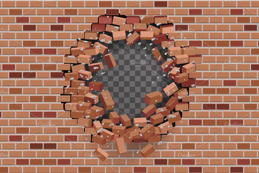 Red Brick Wall Hole