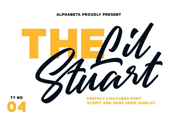 Display Fonts: Alphabeta - Lil Stuart // Ligature Font