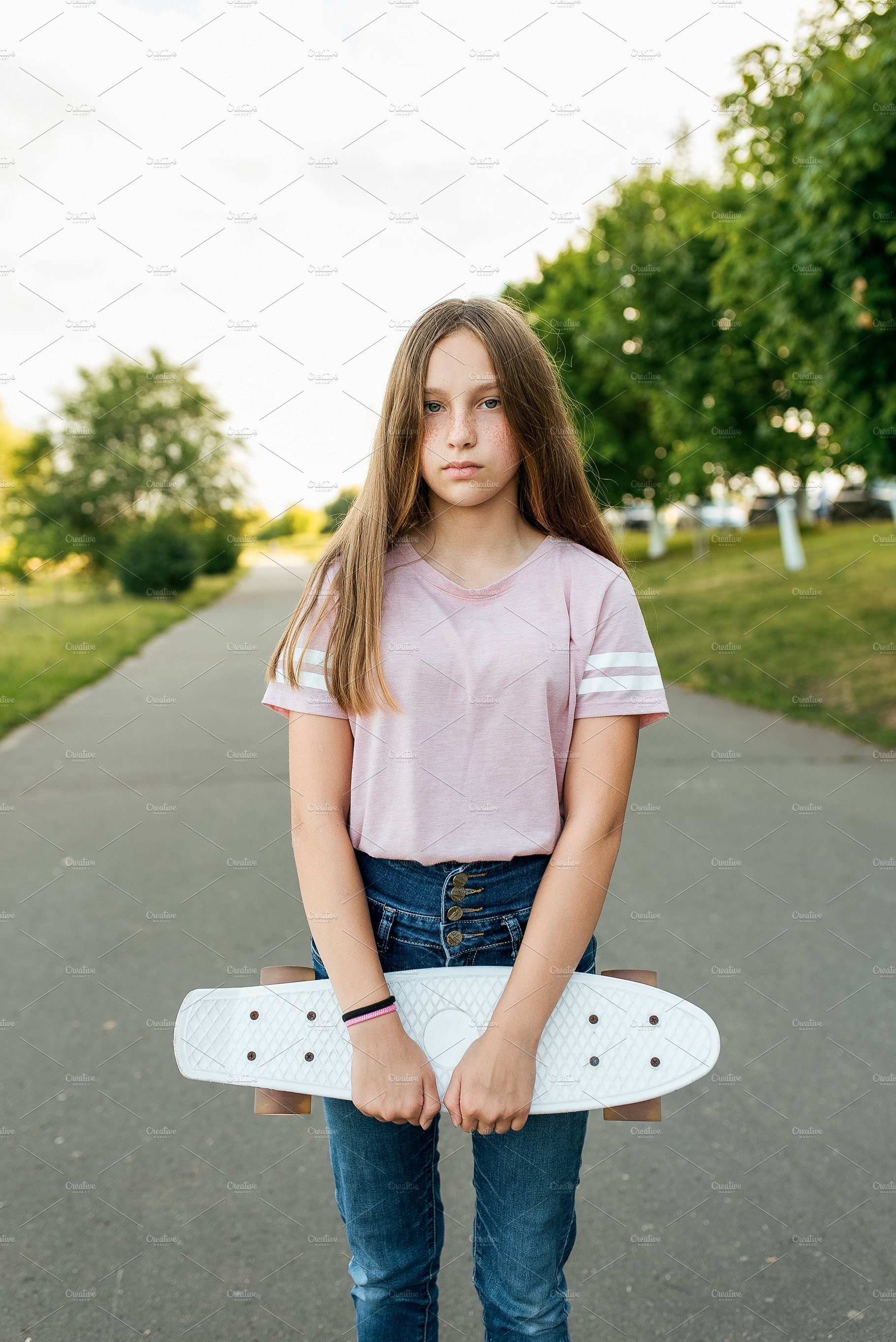 Teen girl 10-15 years old, standing | High-Quality People