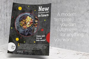 Restaurant template flyer