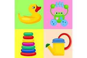 Plastic Toys for Children on