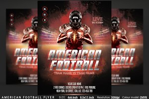 American Football Flyer And Poster