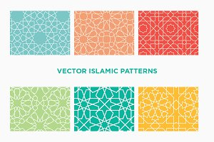 6 Vector Islamic Geometric Patterns