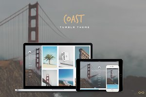 Coast - Minimal Grid Tumblr Theme