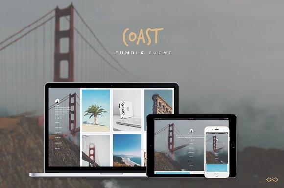 Coast - Minimal Grid Tumblr Theme