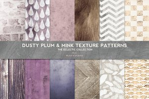 Dusty Plum & Mink Textured Patterns