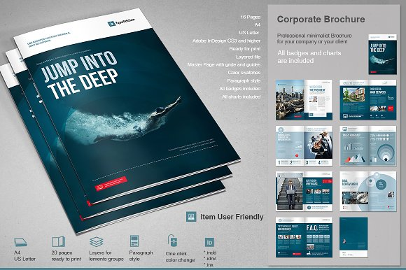 Technology Consulting It Tri Fold Brochure Template Design