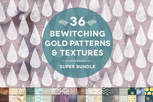 36 Bewitching Gold & Textures Bundle