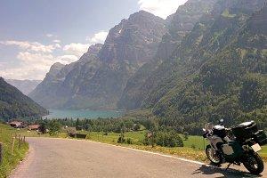 Motorbike travel landscape