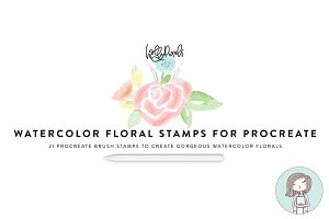 Procreate Stamps Watercolor Florals