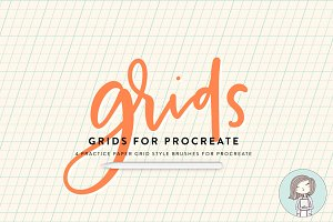 Procreate Brushes Grids Lettering