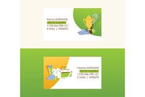 Tennis vector business card tennis