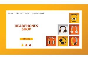 Headphone vector headset listening