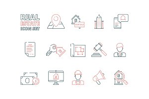 Real estate line icon. Building sale