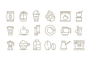 Coffe shop icon. Hot drinks tea and