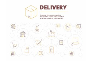 Logistic background. Delivery