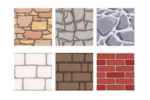 Wall game textures. Seamless rock